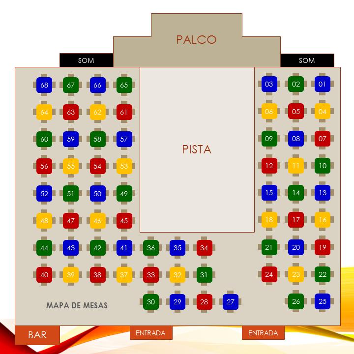 Mapa de Mesas da 6ª Festa à Fantasia